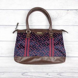 Tommy Hilfiger Brown Red Ue Shoulder Hand Bag